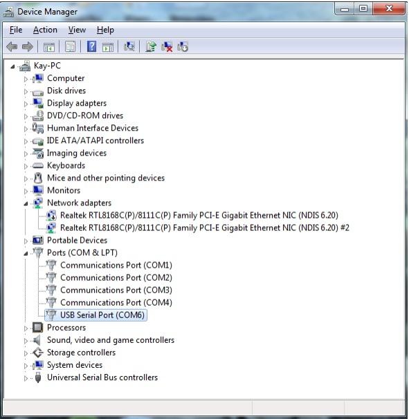 Port COM pour OpenCPN