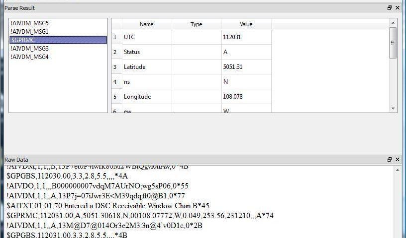 Logiciel pour tester NMEA 0183