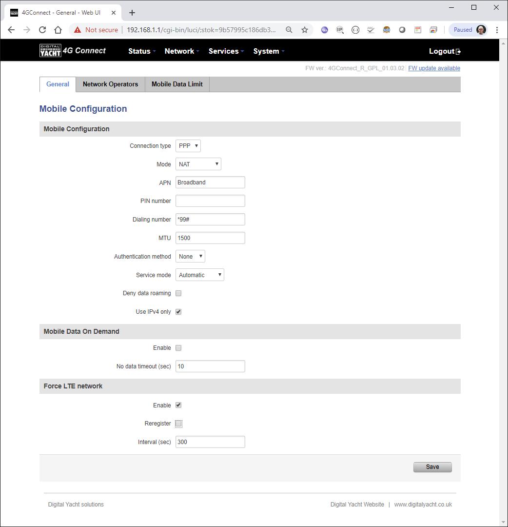 configuration du 4GConnect