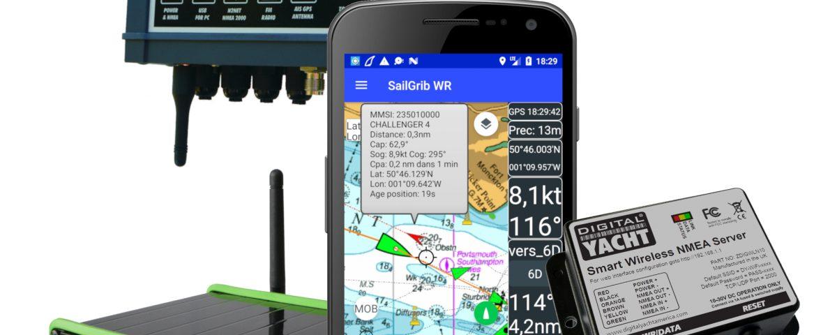 Appli SailGrib et les produits Digital Yacht