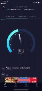 Test de vitesse du 4G Connect