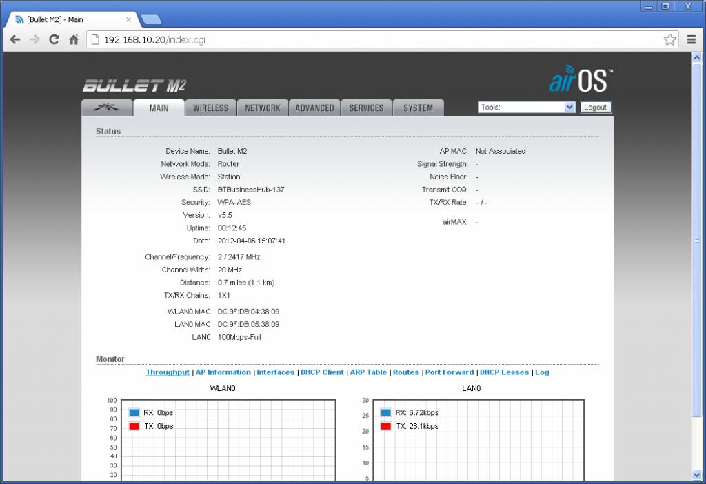 interface web WL510