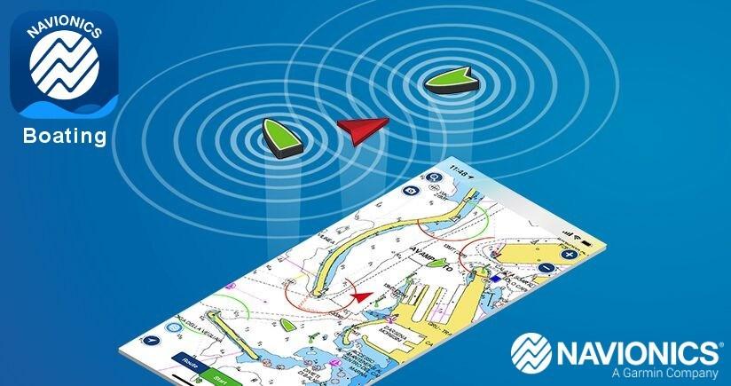 Affichage des cibles AIS sur l'application Navionics