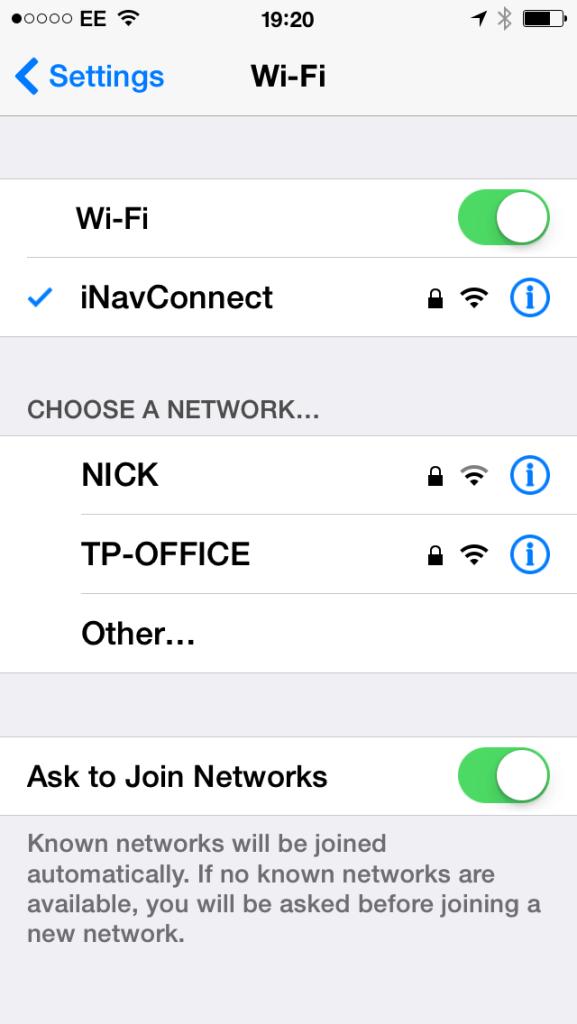 Connecter un iPhone au WiFi de la marina