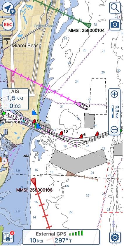 Affichage des cibles AIS sur Aqua Map