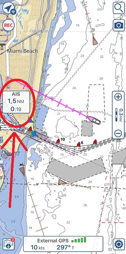 Cibles AIS sur Aqua Map