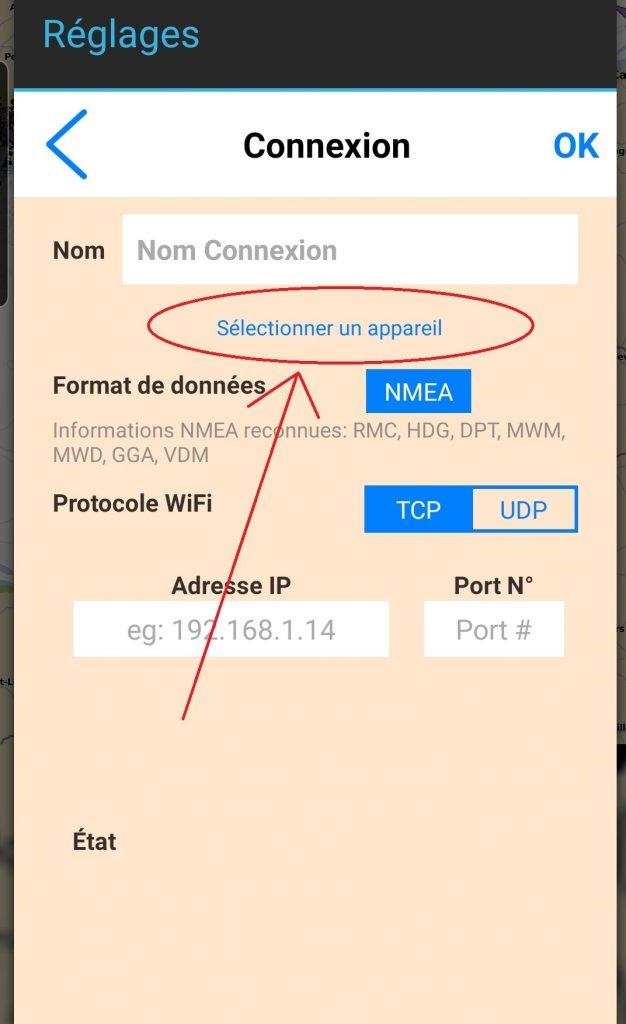 paramètres NMEA Aqua Map