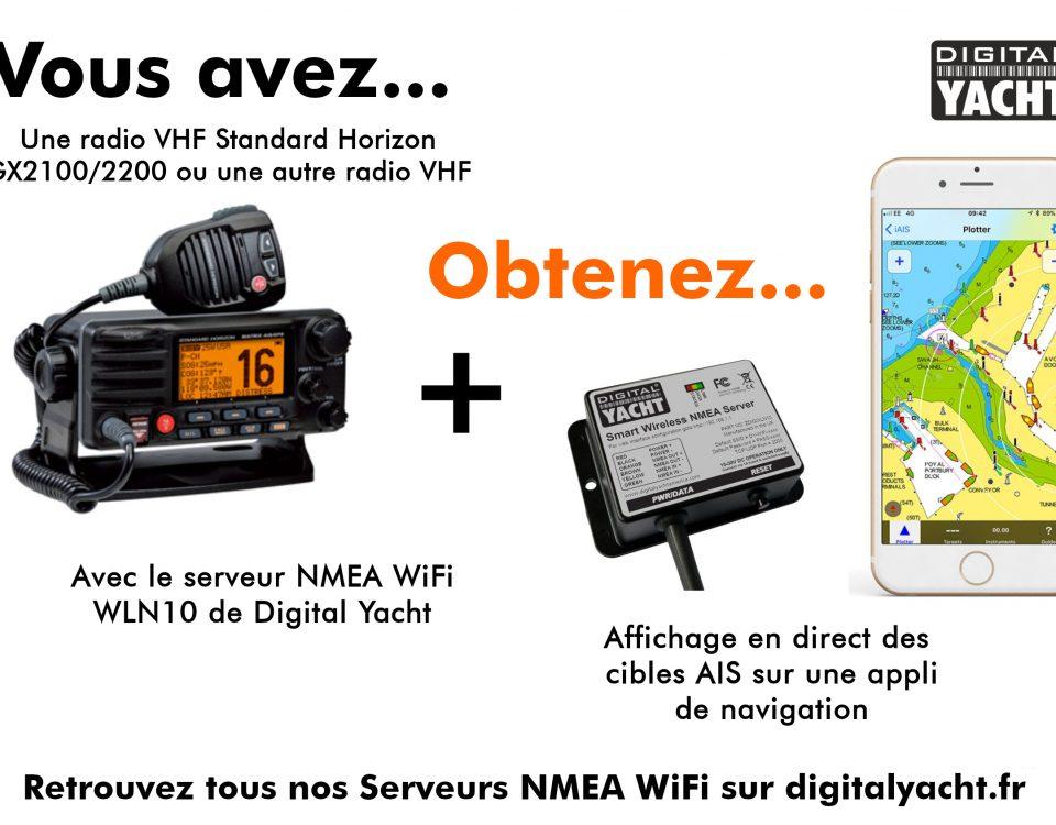 Serveur NMEA WiFI connecté à une radio VHF