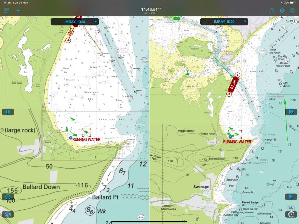 comparaison des zooms sur les cartes Imray