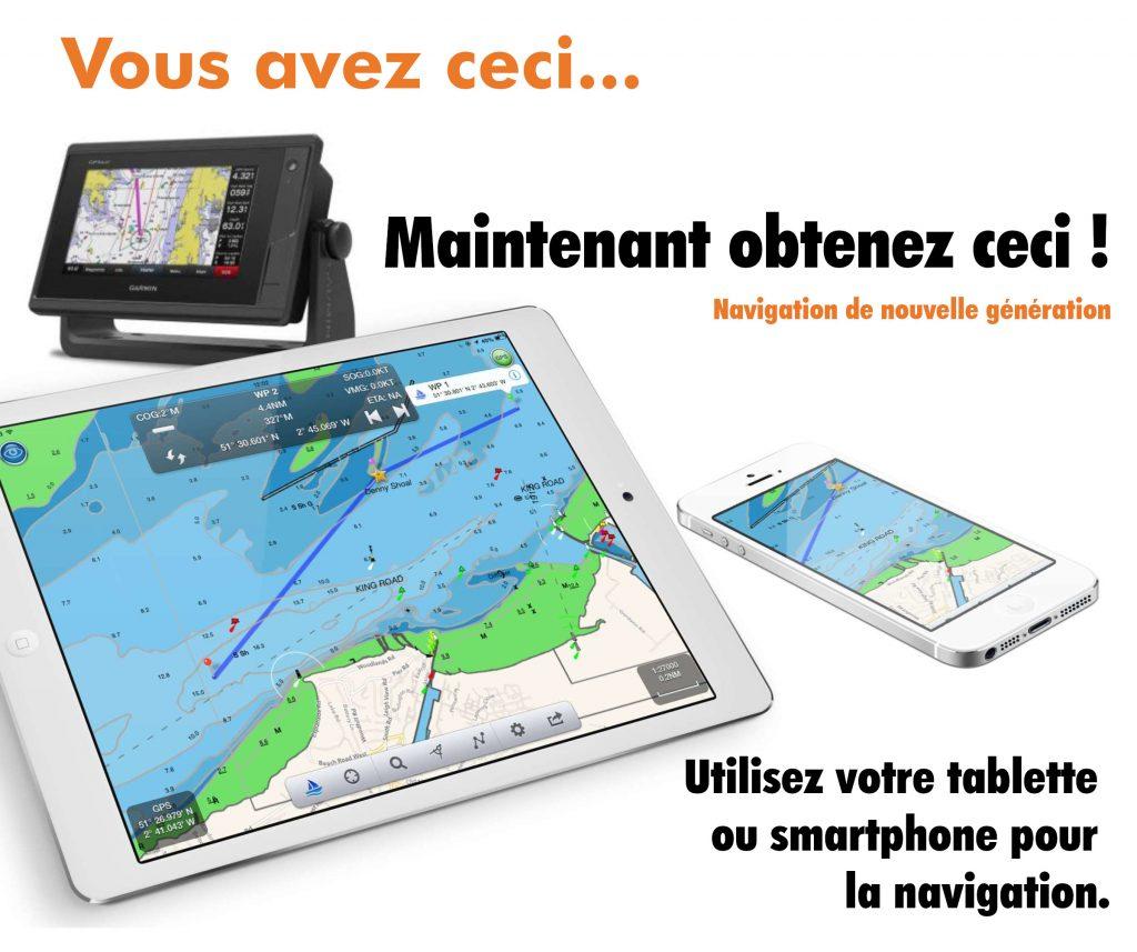 Navigation en utilisant tablette