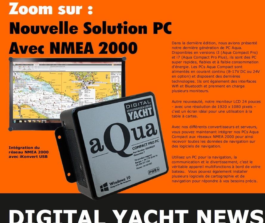 Newsletter de Digital Yacht juillet 2020