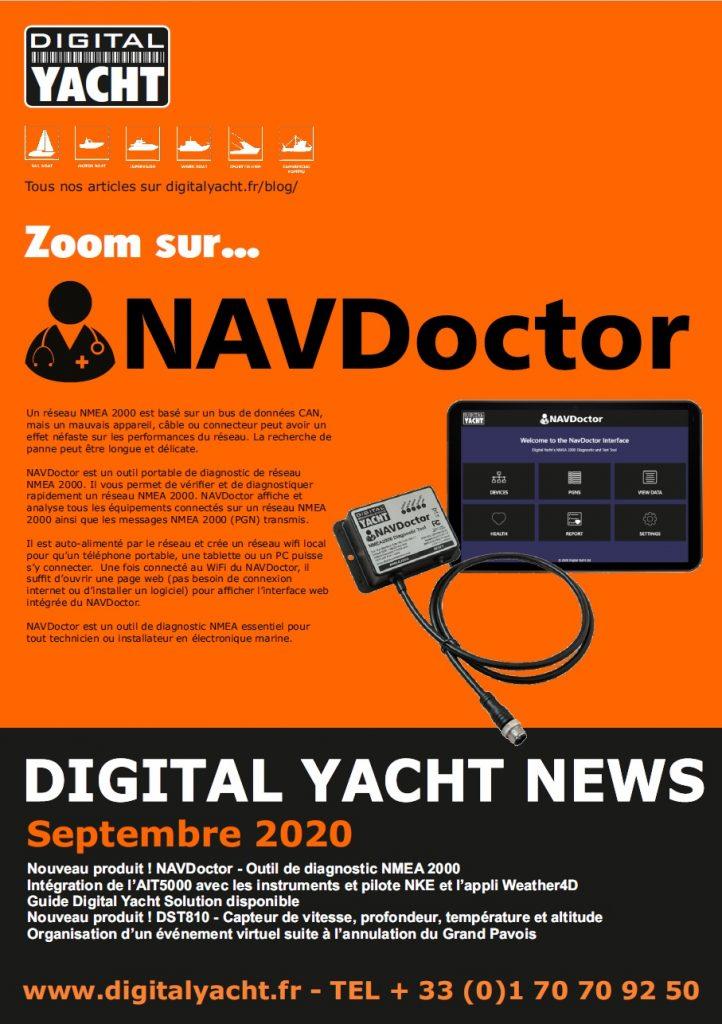 newsletter de septembre 2020 Digital Yacht