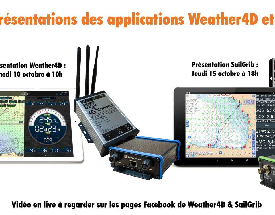 vidéo live de weather4D et sailgrib