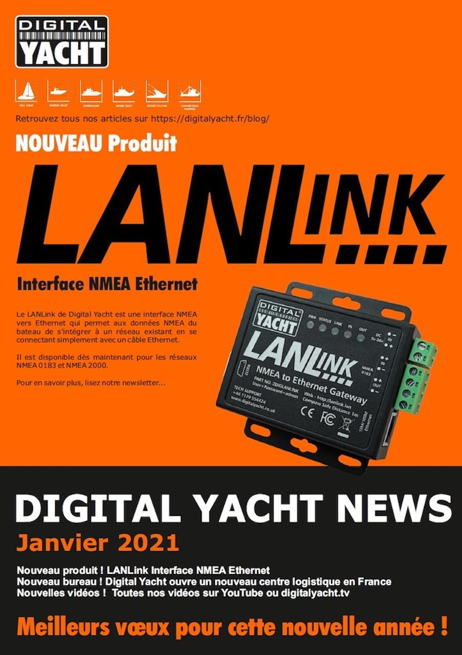 La dernière édition de notre newsletter Digital Yacht News est maintenant disponible. Nous y présentons notre nouveau produit LANLink.