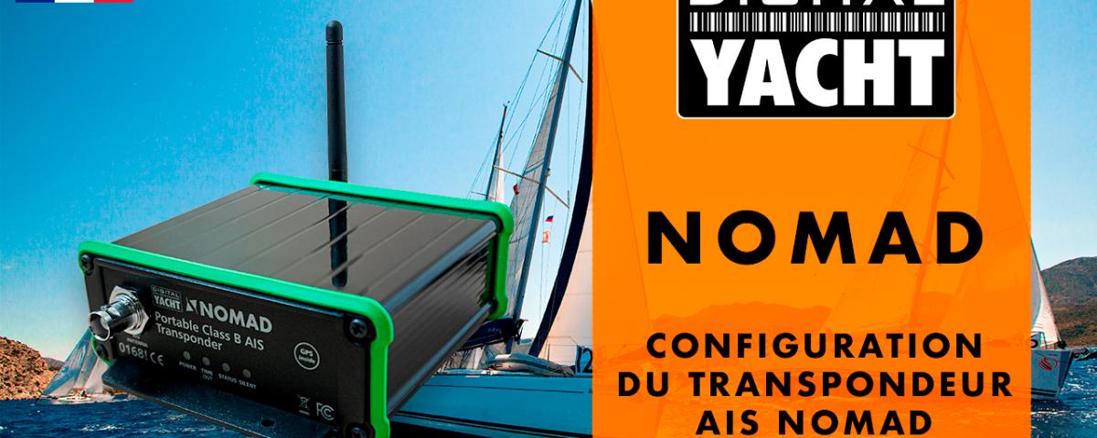vidéo qui montre la configuration du transpondeur AIS Nomad